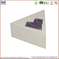 good quality special design triangle shape unfinished wooden boxes wholesale