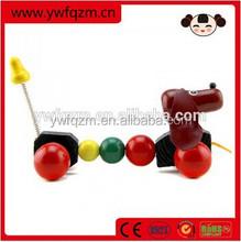 Good Wooden Pull Dog String Toys for kids