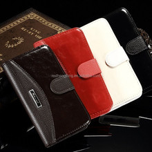 4 colors wallet leather flip case for samsung galaxy s6 with stand function