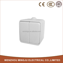 Factory Direct Sale White Mounted Two Gang Switch