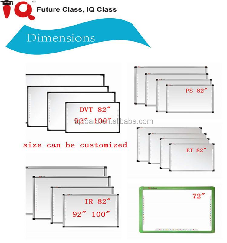 IQBoard IR infrared tamanho personalizado placa de ensino para a aula interativa inteligente