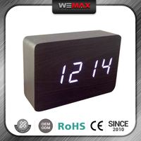 Small Order Accept Colorful Wood Led Floating Clock