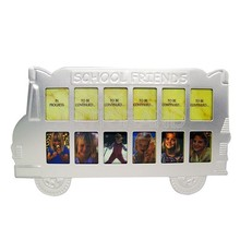 Personalized school friends silver bus photo frame