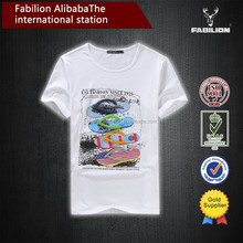 2015 summer dress tide man han edition short sleeve T-shirt printed cotton embroidered blouse of men plain t shirt