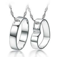 Wholesale 100% 925 Sterling Silver Necklaces & Pendants Couple Pendants and Heart Pendant Necklace fine jewelry