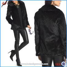 Top Selling Products Cheap Winter Jackets Women Fashion Black Faux Fur Jacket 2015
