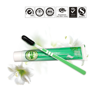 daily use Natural bamboo toothbrush Charcoal toothpaste