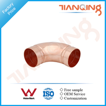 T301 Factory price pipe fitting copper long radius 90 deg elbow