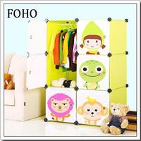 FH-AL0023-6 Alibaba bedroom modern cloth cabinet in plastic