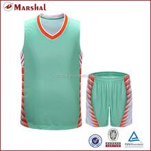 Light green basketball jersey set NEW DESIGN jersey shirts design for basketball