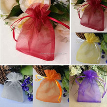 In Stock Mixed Colors Jewelry Packing Drawable Wedding Gift Bags Wholesale Organza Bags