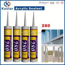 acrylic silicon 100%flexible,gap filler,white caulk,good price