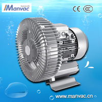 2015 popular 2.2kw side channel suction air blower for grain conveying
