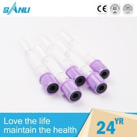 OEM acceptable custom lavender cap EDTA blood collection tubes