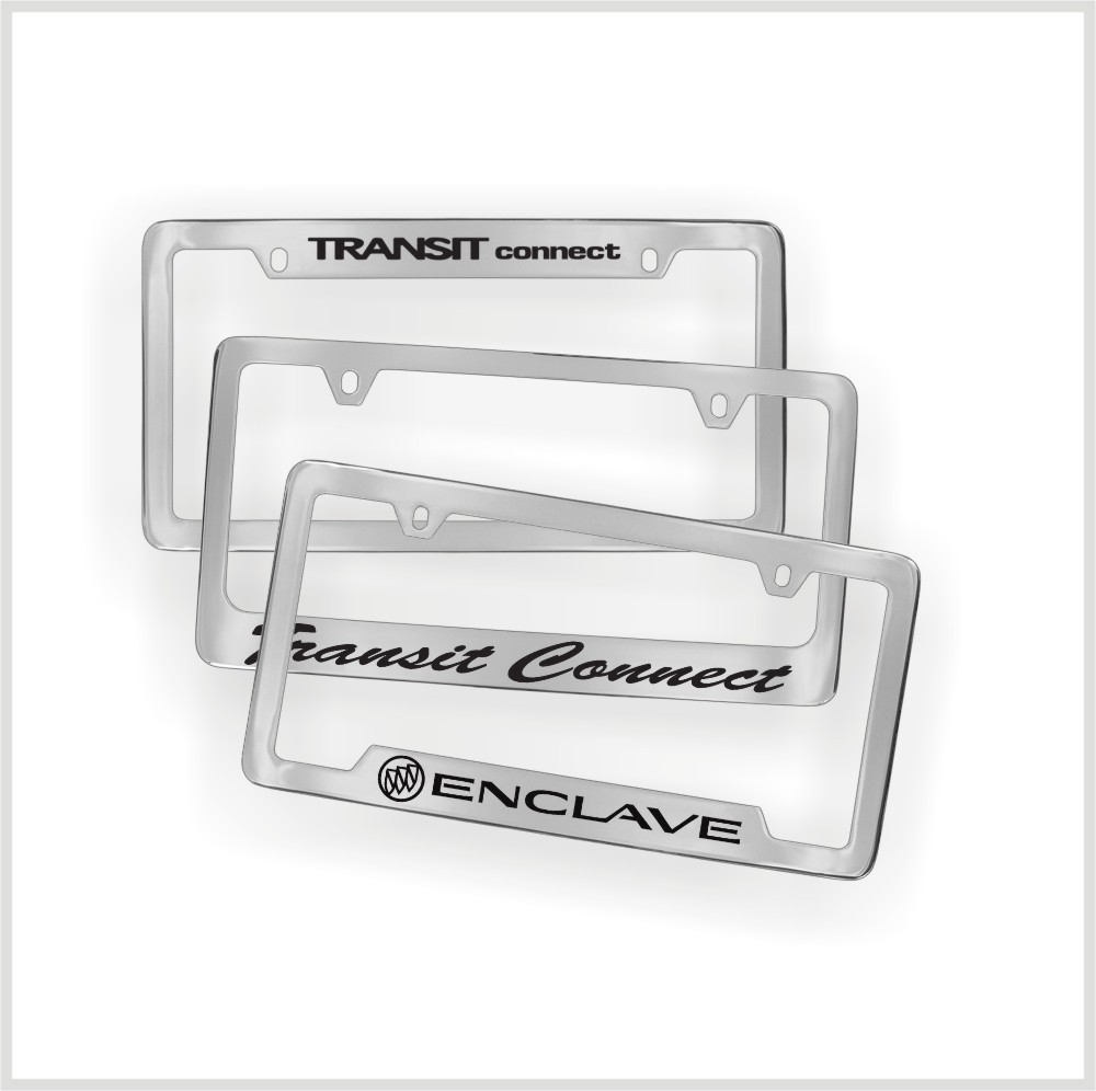 Custom chrome plating for abs plastic license plate frame buy plastic plating electric chrome - Decorative chrome plating ...