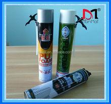 Aerosol can spray polyurethane foam sealant for window and door frame, woodworking foam sealant
