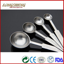 Eco-friendly 100% 4 Pcs Stainless steel Measuring Spoon 1.2MM F029 Measuring Spoon
