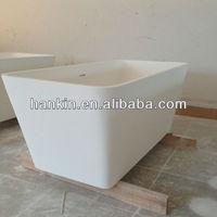 freestanding solid surface kids bathtub