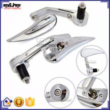 BJ-RM400-03 Chrome Billet Aluminum Handle Bar End Side Mirror Motorcycle for Kawasaki Ninja 250 300