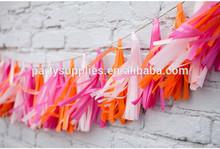 un pañuelo de papel guirnalda borla de la boda garland guirnalda de vivero decoraciones del partido