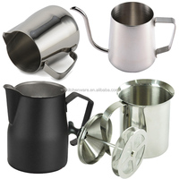 Stainless steel Espresso coffee milk pitcher & milk frother