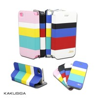 Color combination wallet cell phone case