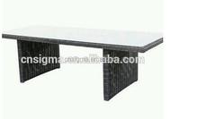 2015 Garden Furniture Single Table Outdoor Rattan Long Bar Table