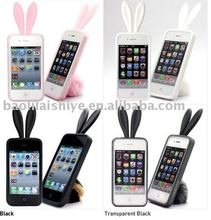 Latest Fashion Rabbit Silicone Iphone4g Case