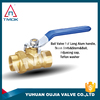 TMOK 1/2 inch brass ball valve with forged blasting hydraulic motorize CW617n three way plating threaded connection