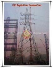 132KV Power Transmission Line Steel Lattice Tower