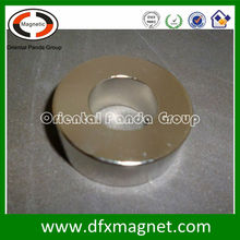oriented through thickness ring magnet for speaker component