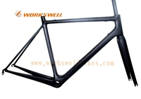 Full Carbon Super Light Road Frame with Fork Headset Clamp Seatpost and BBright
