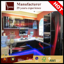 SK412 hpl american standard kitchen cabinet corner designs mdf model with plate holders