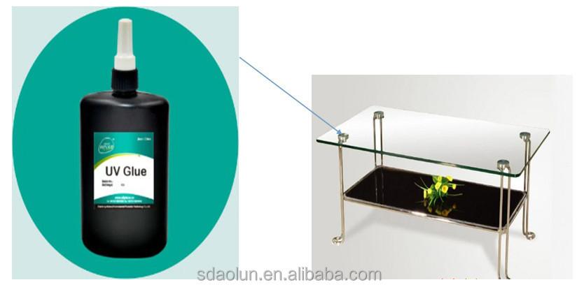 Transparent UV hardening glass table uv glue adhesive