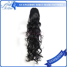 Factory stocks ponytail hair extensions, claw clip extensions ponytail drawstring curly hair ponytail pieces