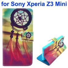 New arrivals 3D Color Printing Craft leather case for Sony Xperia Z3 mini case