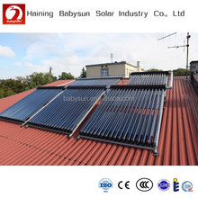 China rooftop split pressurized evacuated tube solar collector, solar water heater