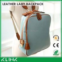 korean women leather backpack for girls