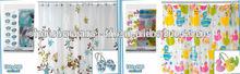2014 primavera de diseño de la cortina de ducha conjunto con ganchos( 12pcs/conjunto)