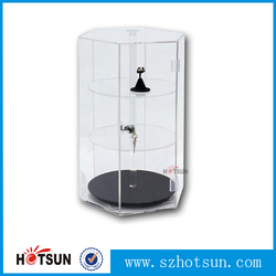 countertop revolving jewelry acrylic display case