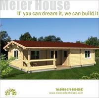 DE wooden house model for sale with low cost