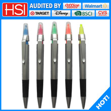 silver color plastic ball pen office stationery list