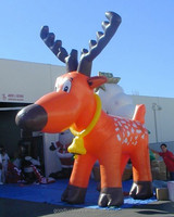 gaint inflatable 15ft Reindeer with bell around neck for advertising