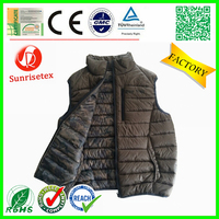 Waterproof windproof men's waistcoat factory
