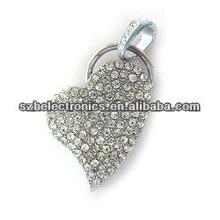 New promotion! 128 gb spot sales of high quality heart-shaped modelling of jewelry usb flash drive