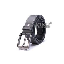 Diseñe su propio cinturón, pin cinturones de cuero gris marcas