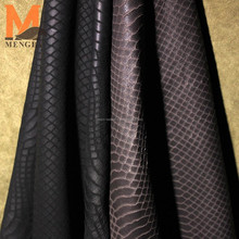 wholesale unique technique sheep skin pattern embossed leather snake pattern