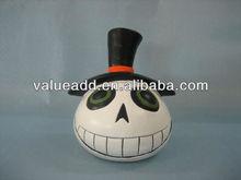 terracotta halloween pumpkin candle holder