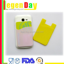 silicone Mobile phone case card holder wallet
