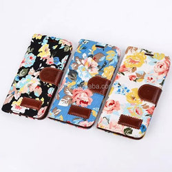 Hot sale for Samsung s6 cloth pu leather case cover